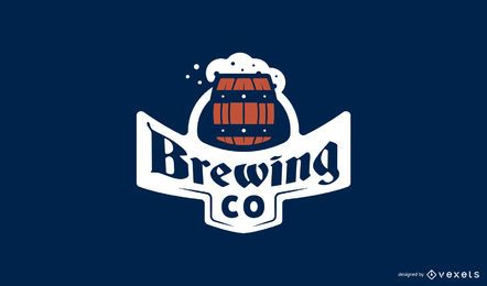 Brewing beer logo template