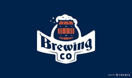 Plantilla de logotipo de cerveza cervecera