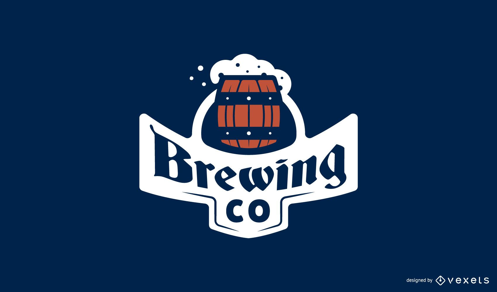 Plantilla de logotipo de cerveza elaborando