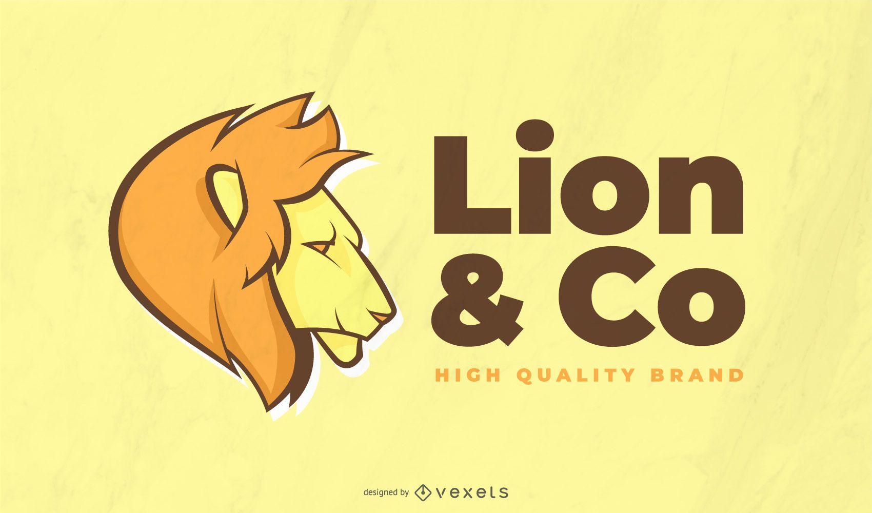 Modelo de logotipo do Leão