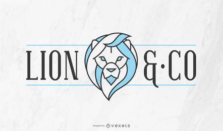Plantilla de logotipo de la empresa Lion