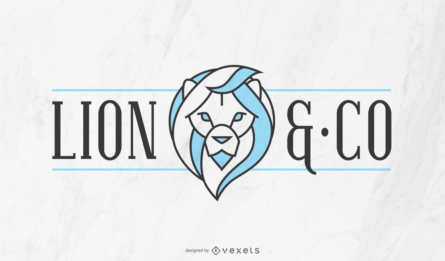Modelo de logotipo da empresa Lion
