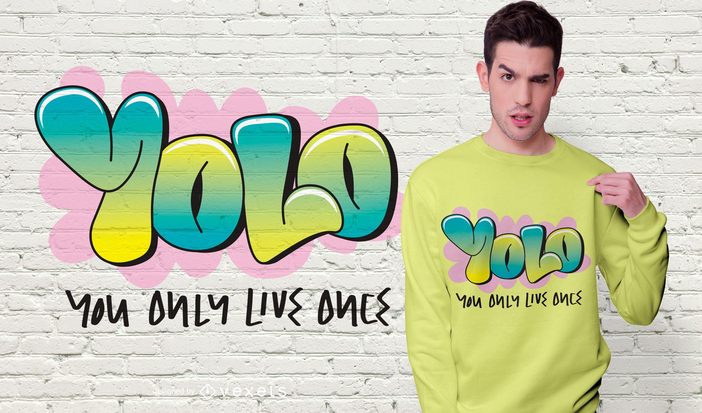 YOLO Quote T-shirt Design