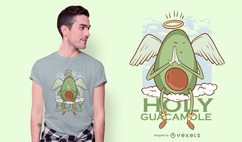 Dise?o de camiseta de dibujos animados de guacamole santo