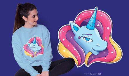 Diseño de camiseta de globo de unicornio