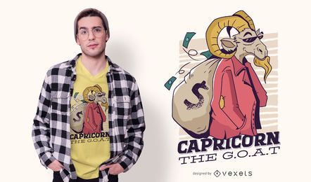 Capricorn Cartoon T-shirt Design