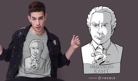 Design de t-shirt da estátua de Immanuel Kant