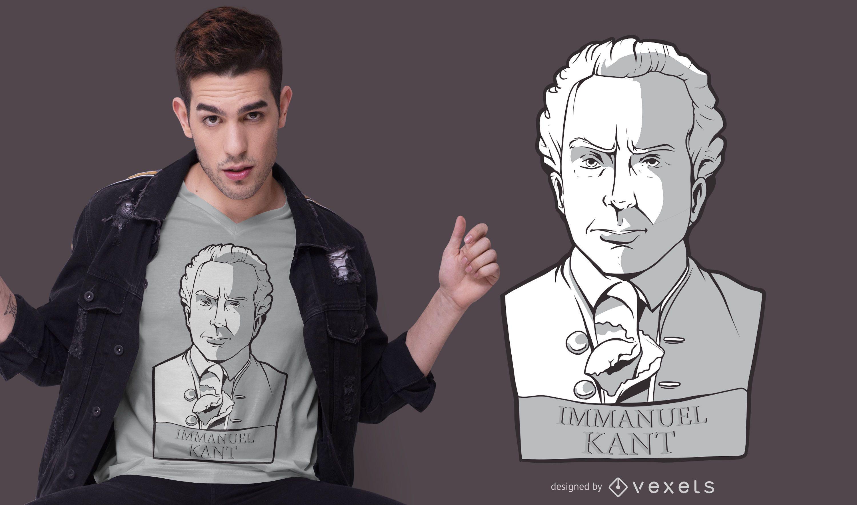 Diseño de camiseta de estatua de Immanuel Kant