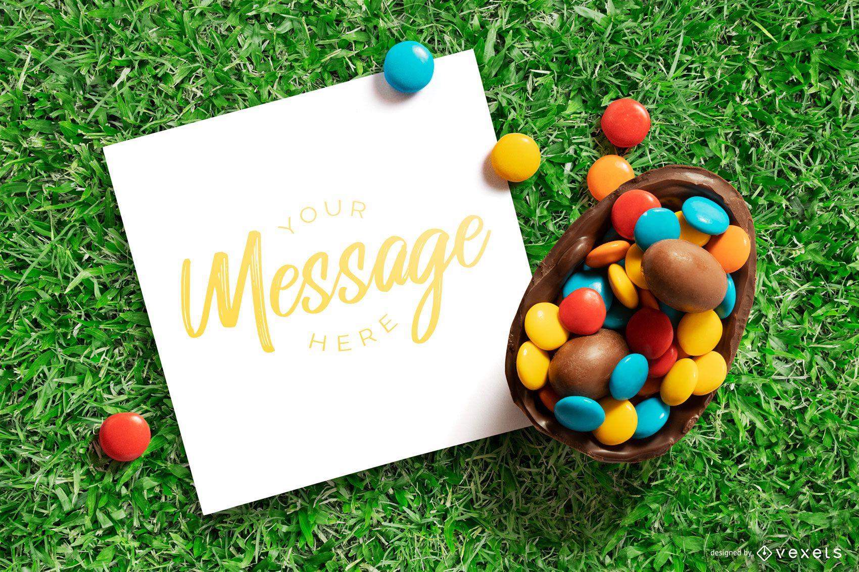 Easter card mockup design