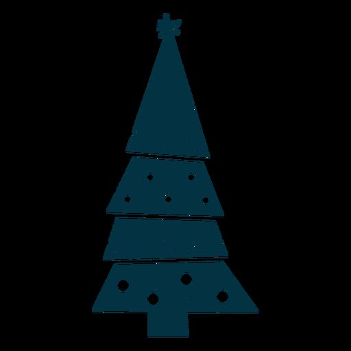 Árbol de navidad abstracto Transparent PNG
