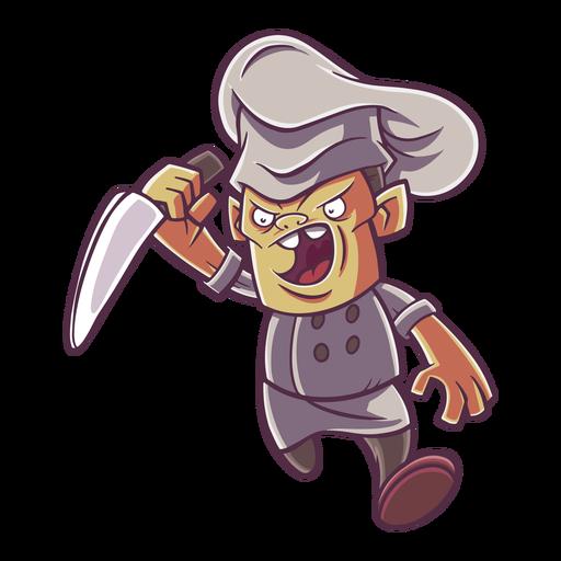 Ilustración de chef enojado