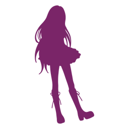 Anime girl boots silhouette