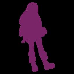 Silueta de botas de chica anime
