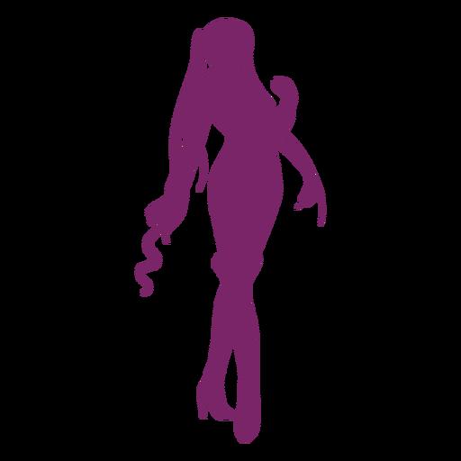 Silueta de chica de pose de anime
