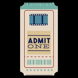 Impresionante boleto de cine