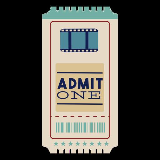 Impresionante boleto de cine Transparent PNG