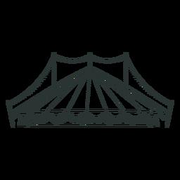 Tenda de circo impressionante