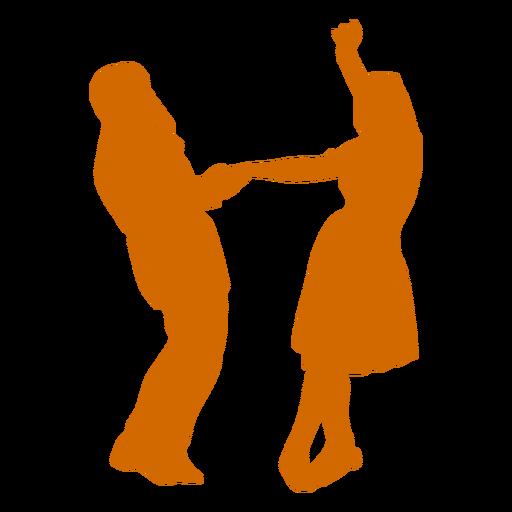Ballroom dancing duo Transparent PNG