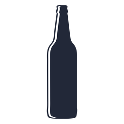 Botella de cerveza larga silueta