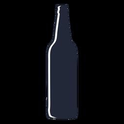 Silhueta longa de garrafa de cerveja