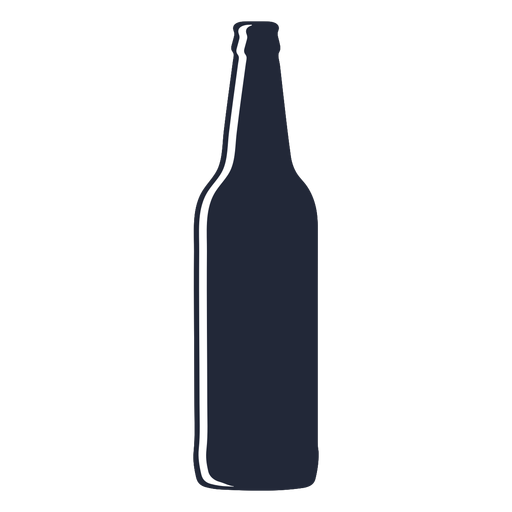 Beer bottle long silhouette Transparent PNG