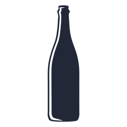 Beer bottle silhouette beverage