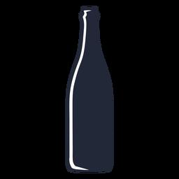 Botella de cerveza silueta bebida