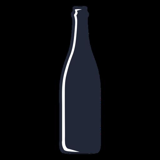 Beer bottle silhouette beverage Transparent PNG
