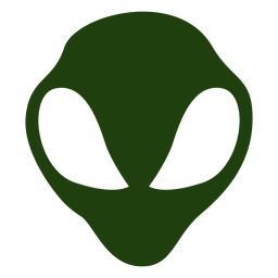 Alienkopfschattenbild der großen Augen