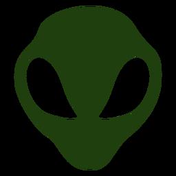 Silueta de cabeza alienígena de ojos grandes