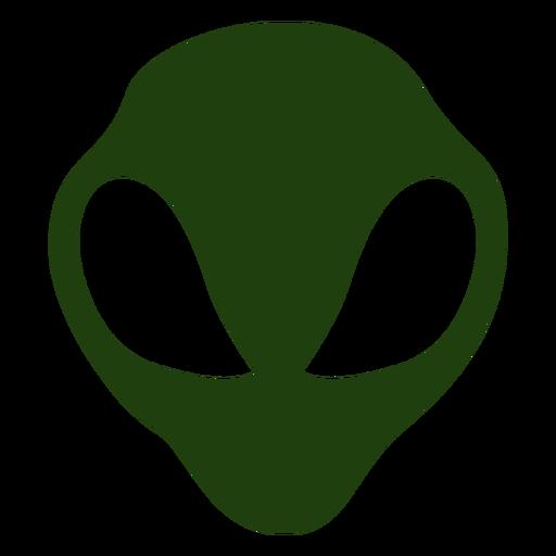 Big eyes alien head silhouette