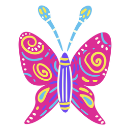 Plano mexicano de borboleta