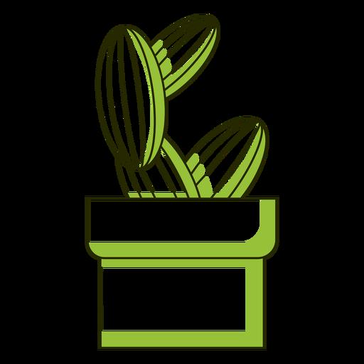 Cactus duo tone cute Transparent PNG