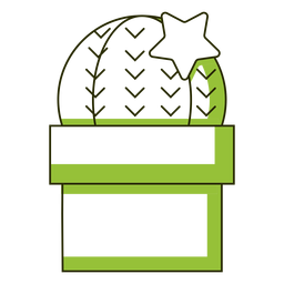 Cactus with start illustration