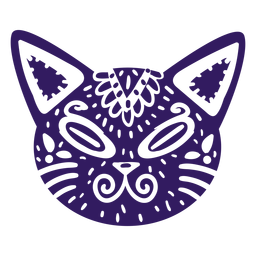 Gato lindo silueta mexicana