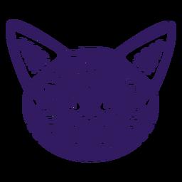 Silhueta mexicana fofa de gato