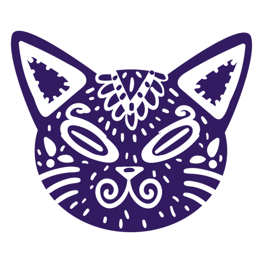 Cat cute mexican silhouette Transparent PNG