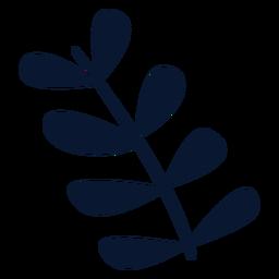Elemento de hojas de navidad