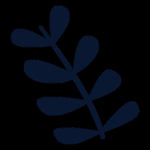 Elemento de hojas de navidad Transparent PNG