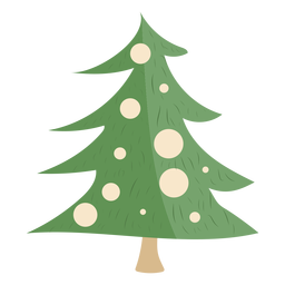 Christmas tree simple decors