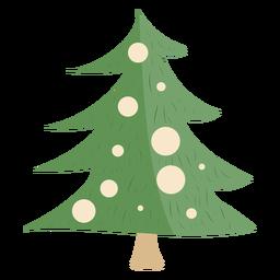 Decoraciones simples de árbol de navidad