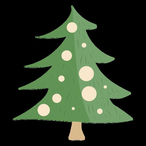 Decoraciones simples del árbol de Navidad