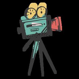 Ação da câmera de cinema