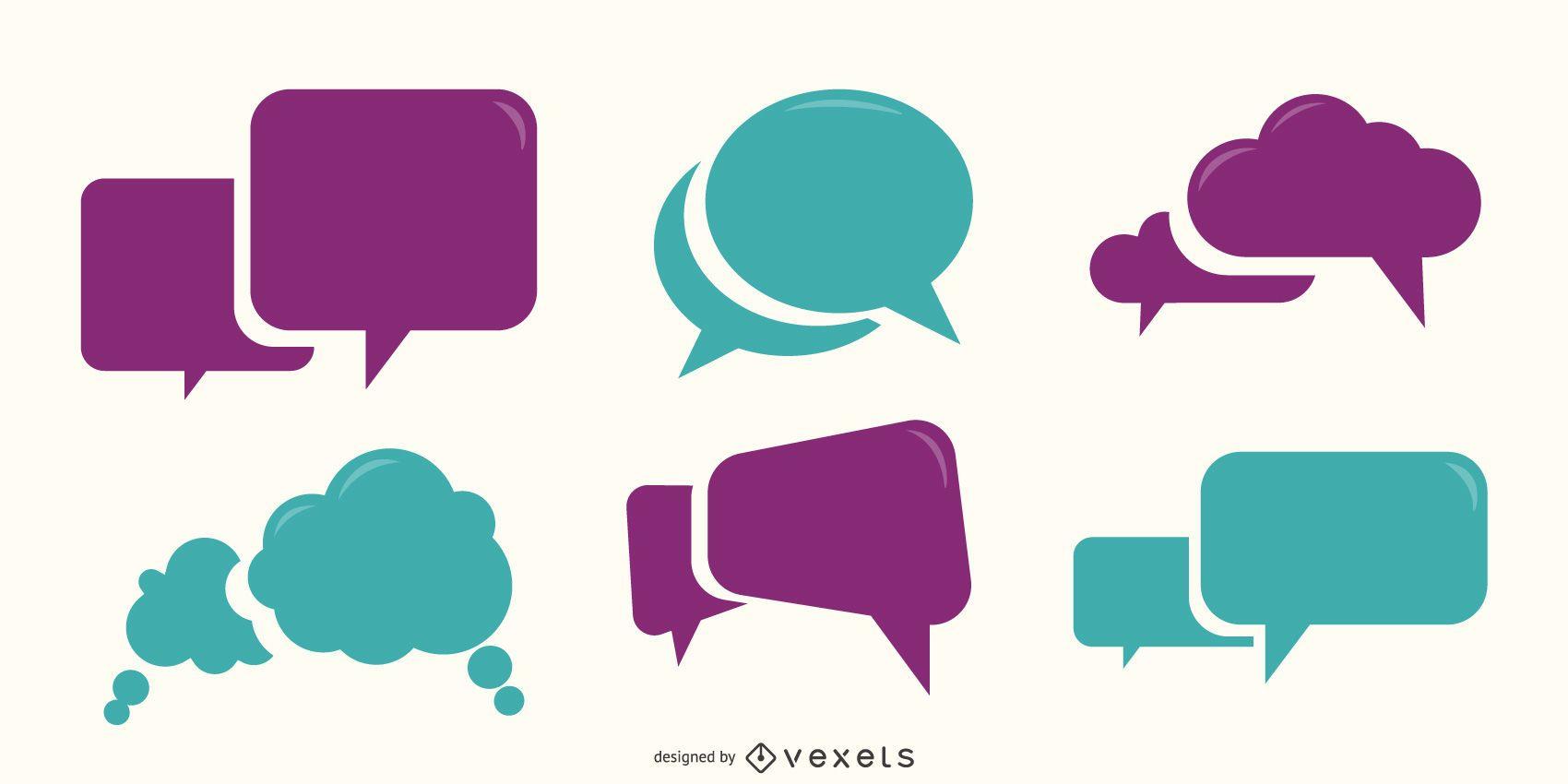 Paquete de burbujas de pensamiento y discurso