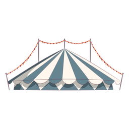 Circus tent roof colored