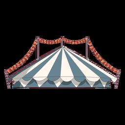 Tenda de circo colorida