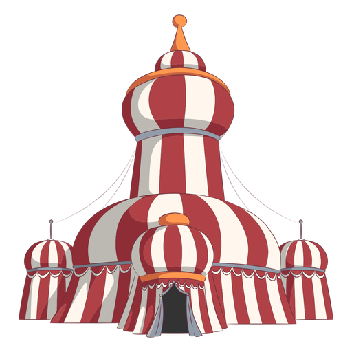 Circus tents round roof