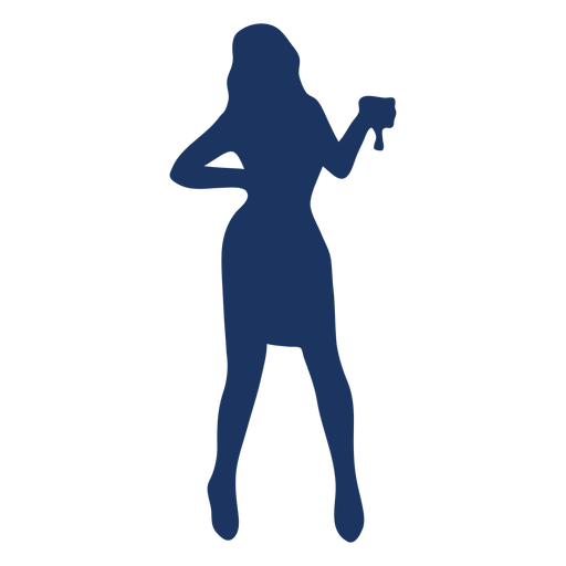 Cocktail girl silhouette