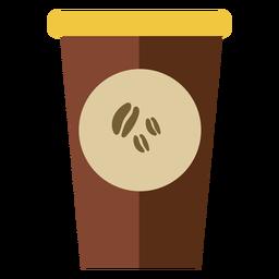 Café em copo fofo