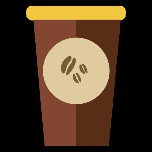 Café na xícara fofo